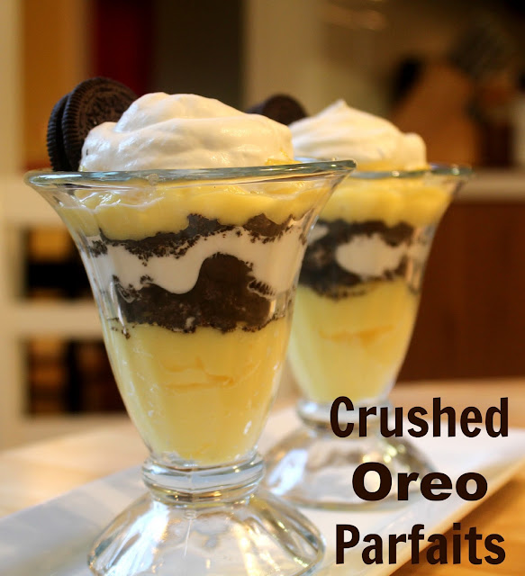 Still Lucky: Crushed Oreo Vanilla Pudding Parfait