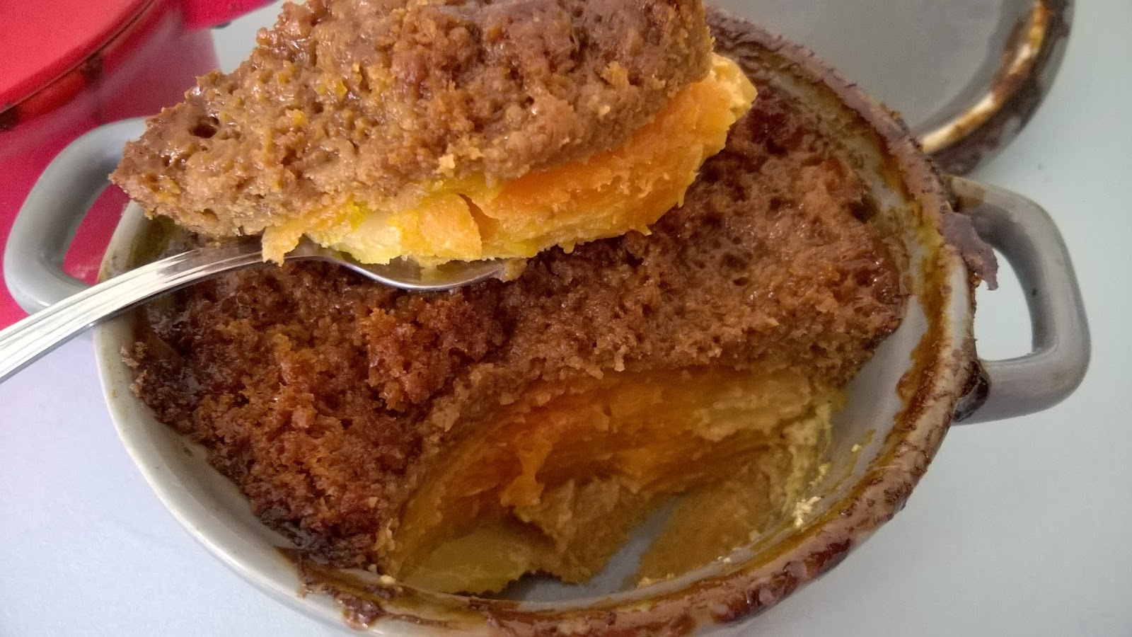 Cocotte de carottes au curry et pain d'épices
