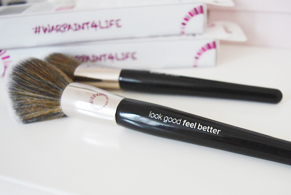 Look Good Feel Better makeup brushes, FashionFake, beauty bloggers, cancer awareness