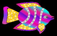 Peixe floral - Criação Blog PNG-Free
