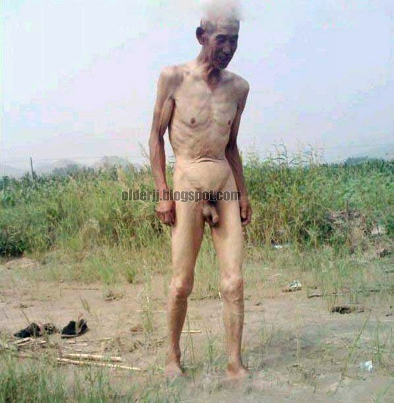 Skinny Naked Old Men