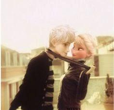 Elsa y Jack Frost romance