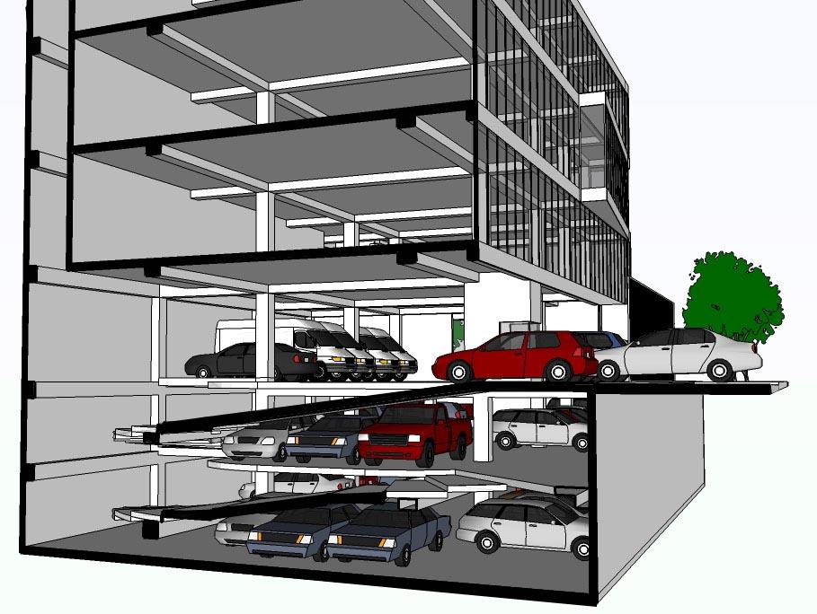 Oniria: Estudio de Estacionamientos para Edificio de Oficinas - photo#21