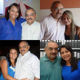 Mercia Alves, Daiane Ferreira, Aldilene Ferreira e Denise Paz