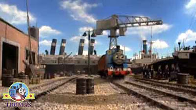 Thomas the tank engine Brendam docks Cranky crane and Salty the dockyard diesel telephone engineers