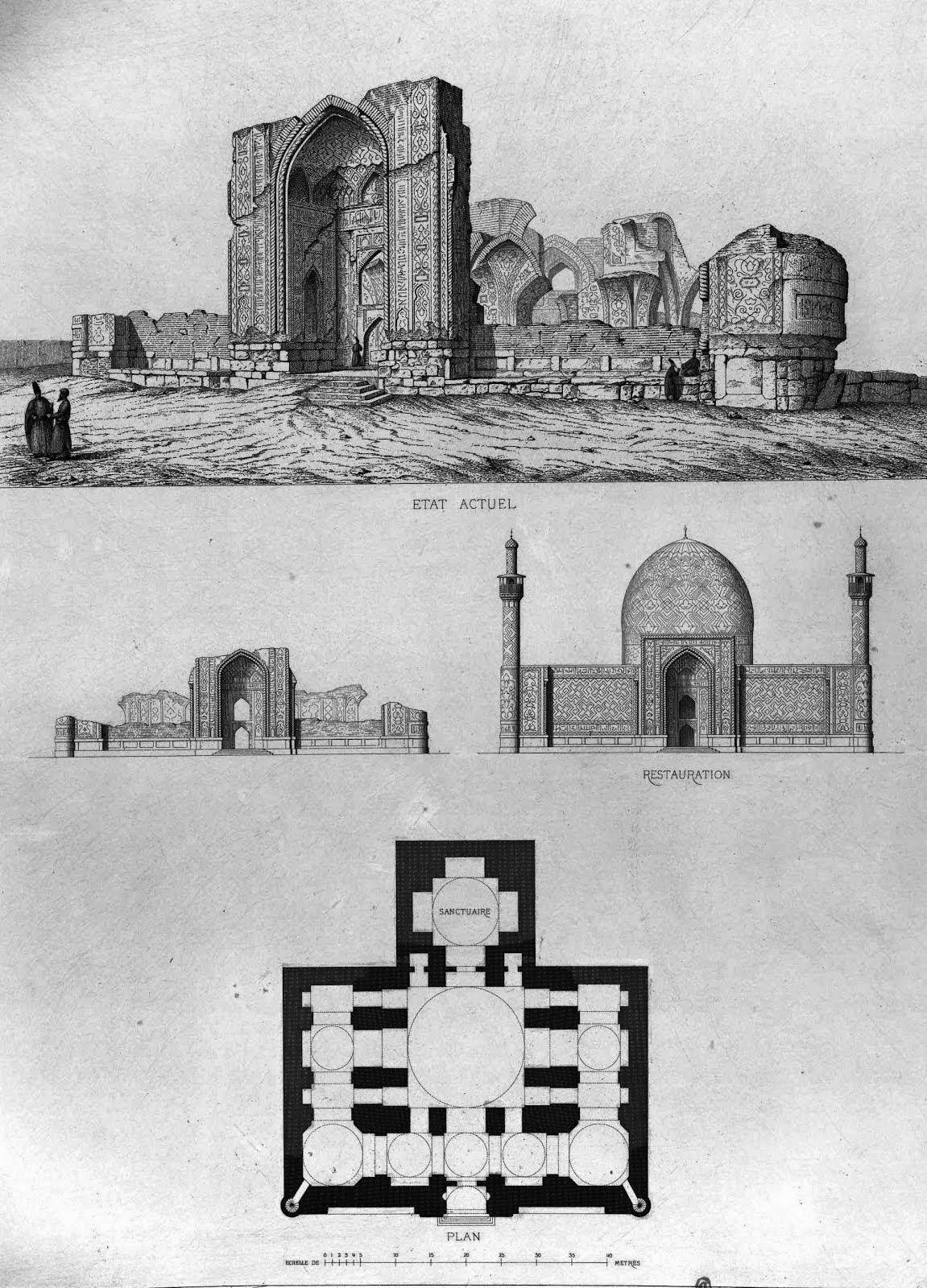 نمای قبل از تجدید بنای گوک مسجد