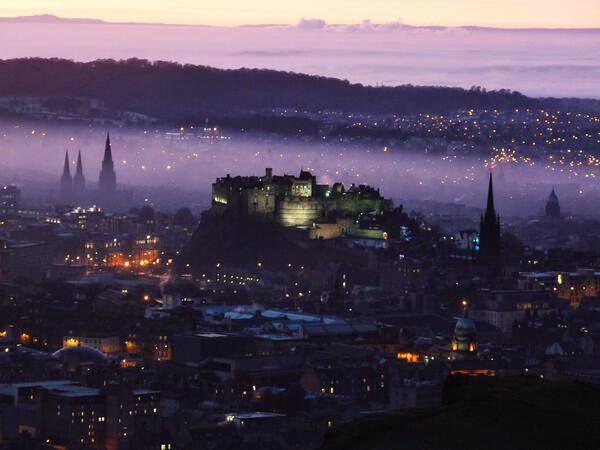 Purple Haze over Edinburgh Castle, Scotland