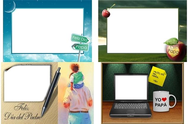 Recursos Photoshop Llanpac: Coleccion de Plantillas Feliz dia del ...