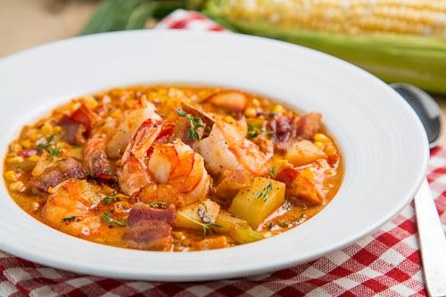 Shrimp and Roasted Corn Chowder on Closet Cooking