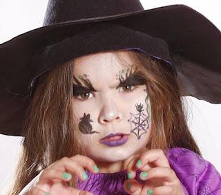Caritas Pintadas para Niñas, Diseño Bruja para Halloween