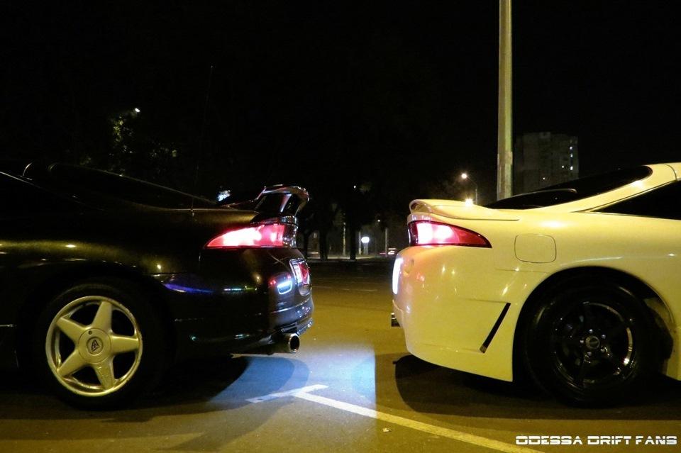 Mitsubishi Eclipse 2G, DSM, 4G63T, AWD, japońskie coupe, ciekawe samochody dla młodego, zdjęcia w nocy