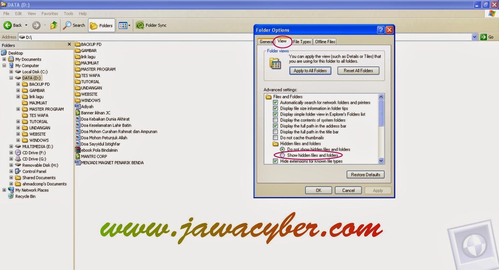 Cara Menampilkan Hidden Folder Pada Windows