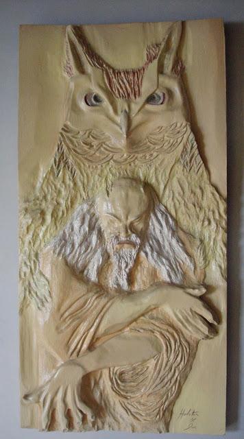 coruja de madeira