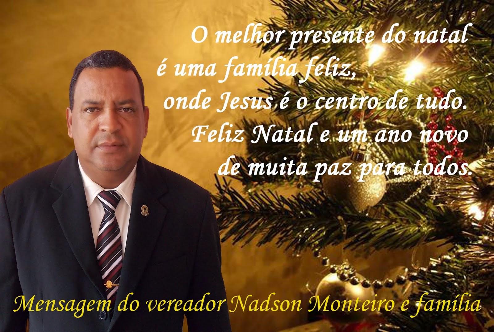 MENSAGEM DO VEREADOR NADSON MONTEIRO