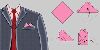 Как сложить платок в карман пиджака с двумя углами?