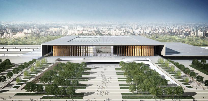 Gr Ficos De Arquitectura 3d Hangzhou South Railway