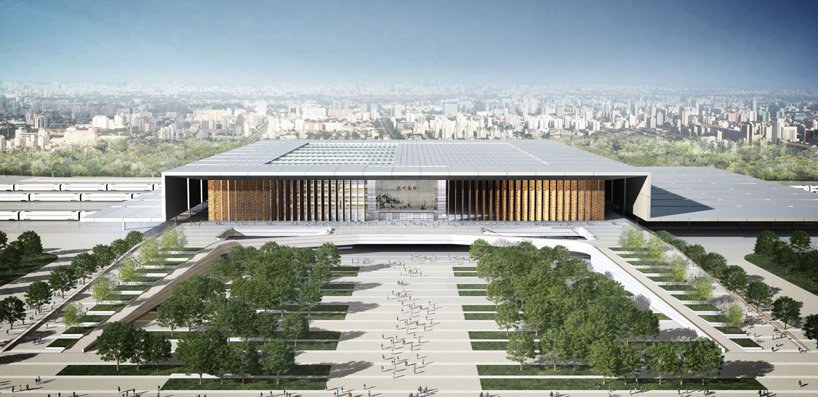 Gr ficos de arquitectura 3d hangzhou south railway for Accesos arquitectura