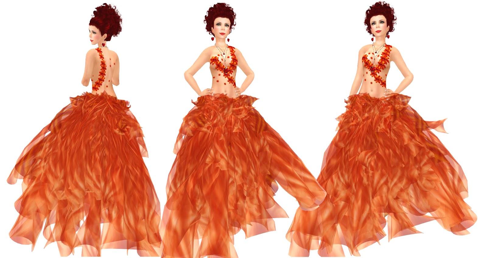 GO DUTCH !: Jewelry and orange gowns.