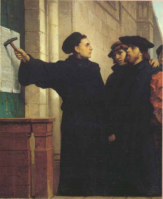 thesis luther Martin luthers 95 thesis martin luthers 95 thesis the 95 theses, a document written by martin luther in 1517, challenged the teachings of the catholic church on the.