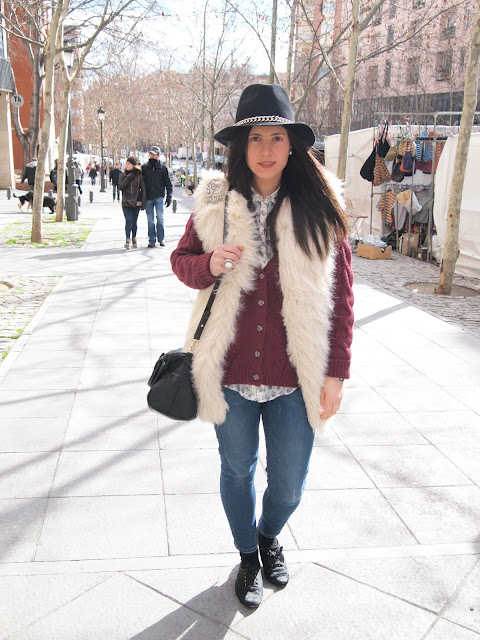 outfit wearing knit jacket
