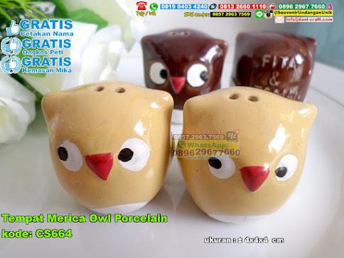 Tempat Merica Owl Porcelain