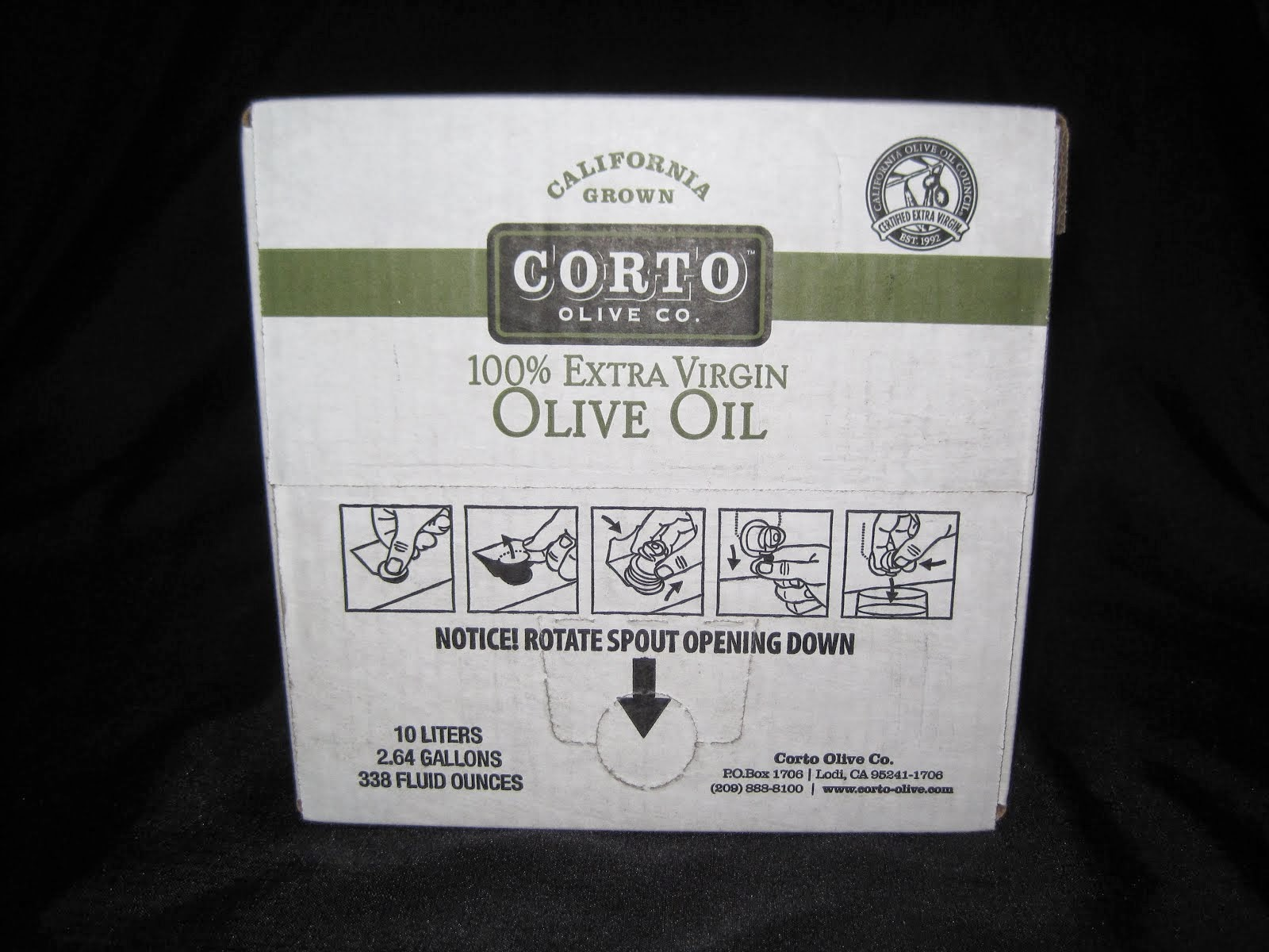 Extra Virgin Olive Oil - Bag in box - Stays Fresh till the last drop - Item # 73660