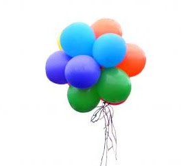 sifat sifat gas : gas mengisi seluruh ruangan di dalam balon
