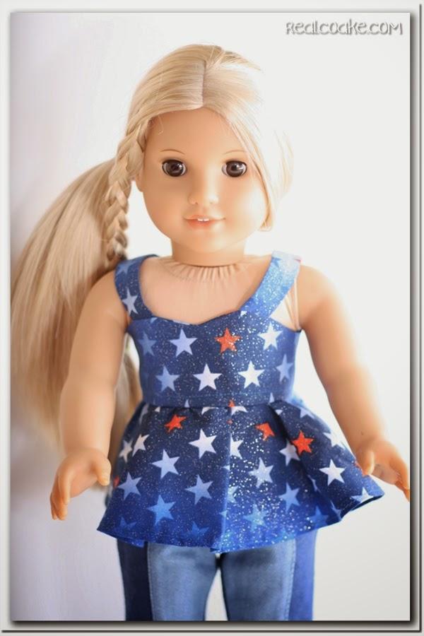 American Girl Doll 4th of July Top ~ Free Doll Clothes Pattern