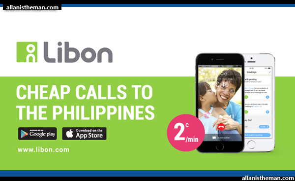 LIBON app offers very cheap international calls to the Philippines
