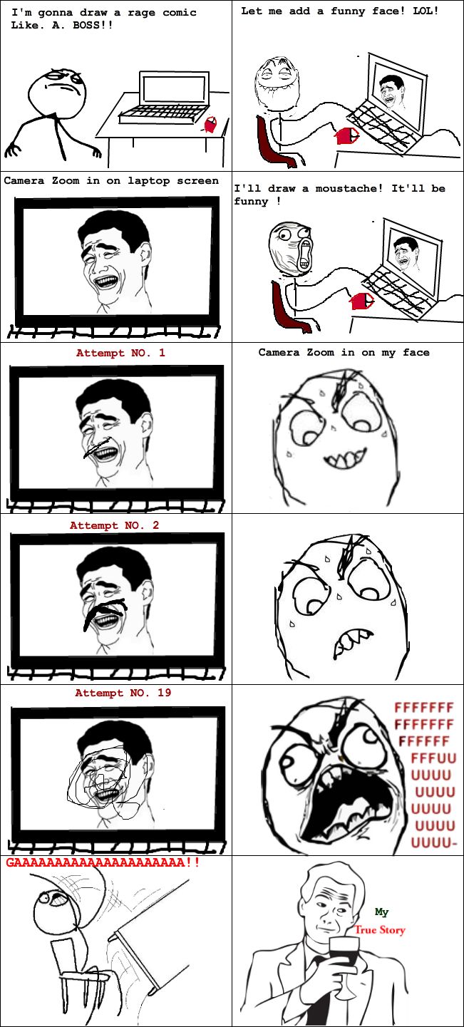 Rage Comic : How I draw a rage Comic - True Story