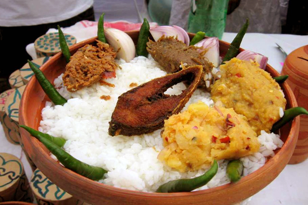 Tradition meal in Pohela Boishakh