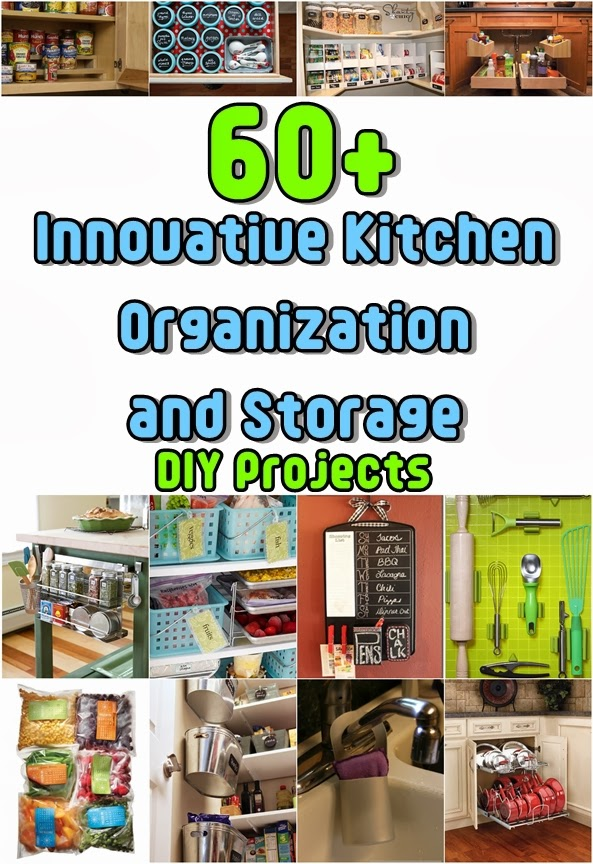 Over 60 clever kitchen organization and storage diy for Clever diy projects