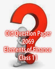 Old Question Paper of Elements of Finance