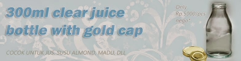300ml clear glass juice with gold cap