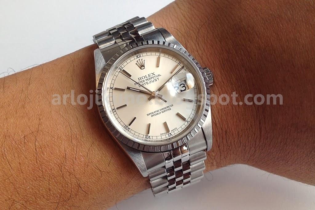 Jam Tangan Second SOLD Rolex Datejust Ref16220 K