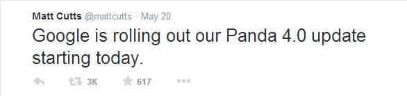 Matt Cutt Mengumumkan Update Google Panda 4.0