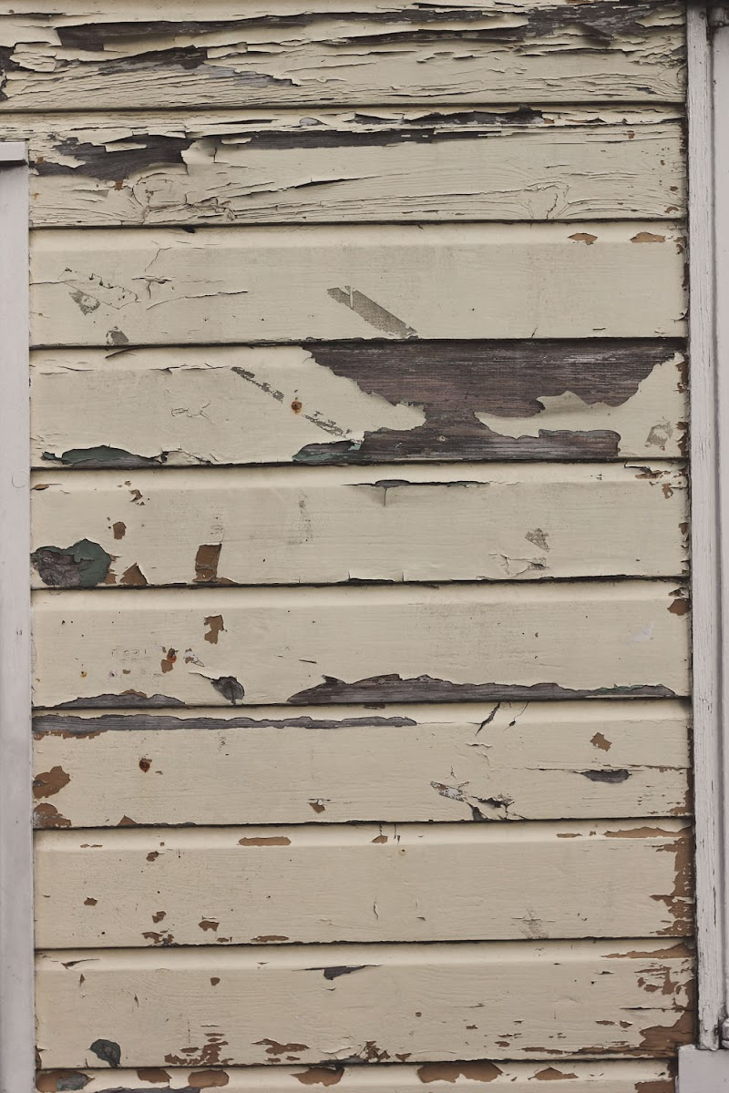 flaking paint on wood