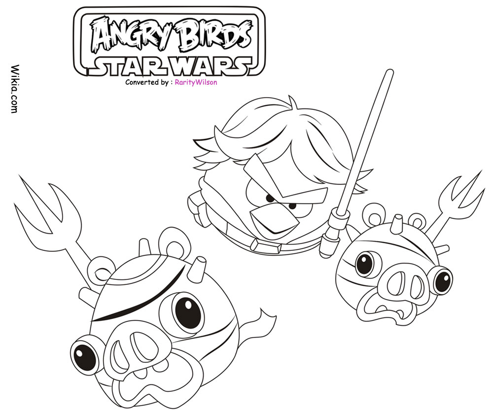 December 2012 Team Colors Angry Birds Wars Coloring Pages Printable
