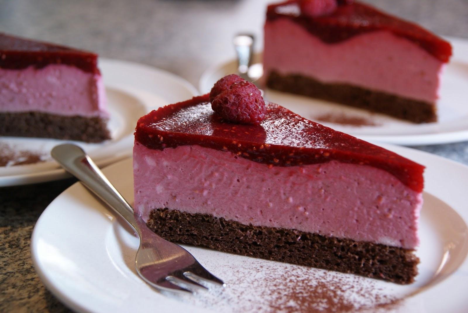 himbeer schokoladen tarte