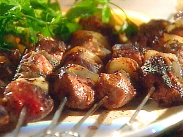 LEBANESE RECIPES: Marinated Lamb Kebabs with a Chile-Yogurt Sauce