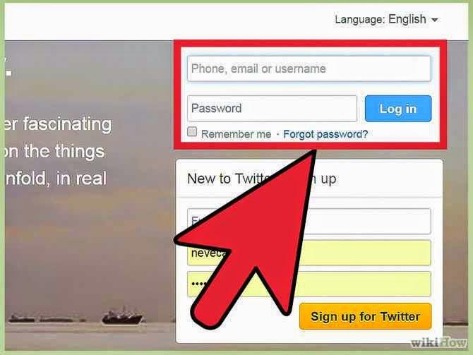 تسجيل الدخول إلى حساب تويتر الخاص بك من جهاز كمبيوتر