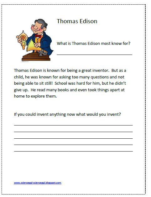 Science Gal: Thomas Edison