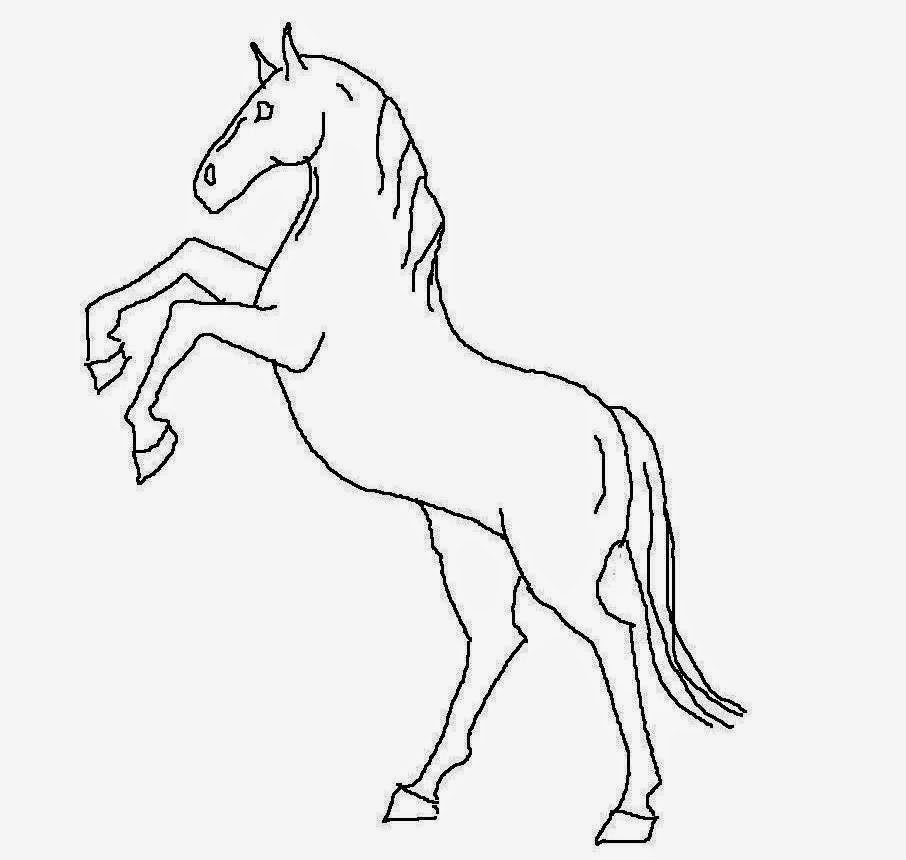 Horse For Kid Coloring Drawing Free wallpaper