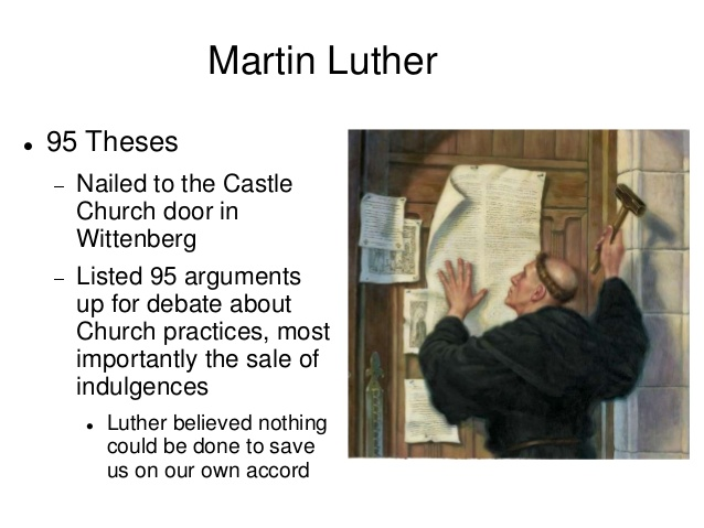 95 theses of martin luther translation Five hundred years ago, on oct 31, 1517, the small-town monk martin luther marched up to the castle church in wittenberg and nailed his 95 theses to the door, thus lighting the flame of the.