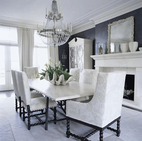 Glam Centerpiece To Complete A Dining Room Table Elle Decor