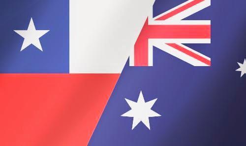 Chile vs Australia Flags | Chile vs Australia FIFA World Cup 2014 HD wallpapers