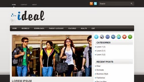 Ideal - Free Blogger Template