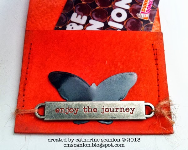 Enjoy the Journey -- Sizzix Tag & Bookplate Die Gift Card Holder Tutorial by Catherine Scanlon for Sizzix