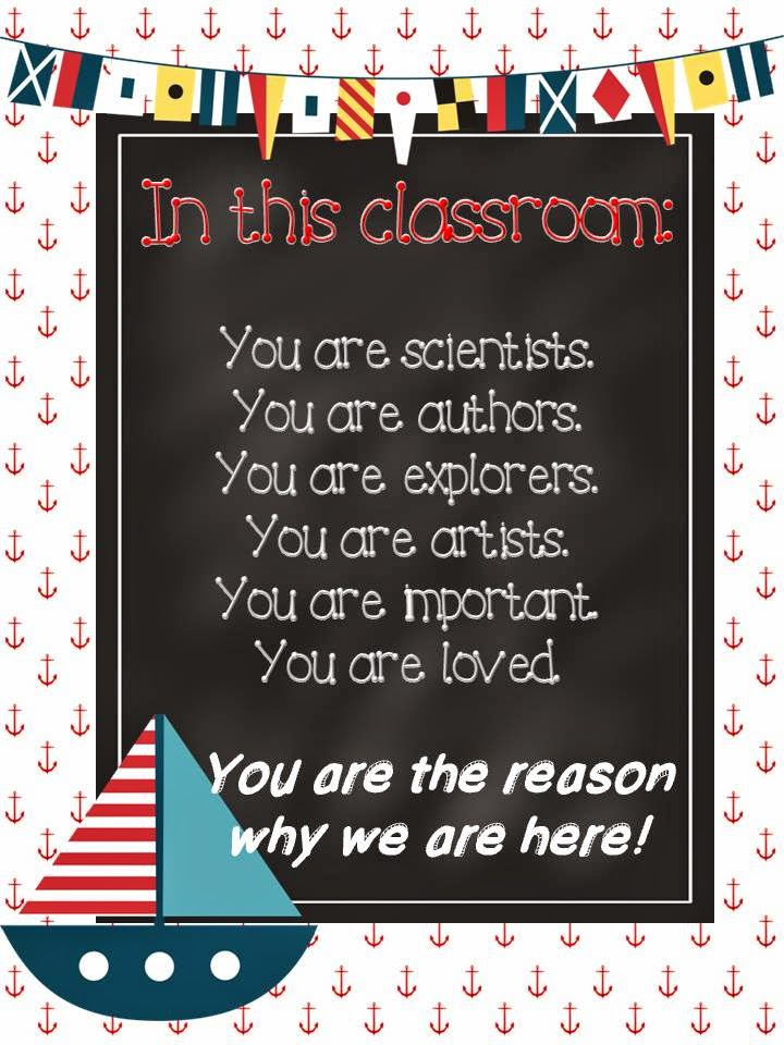The Pirate Queen Teacher: Nautical Classroom Posters