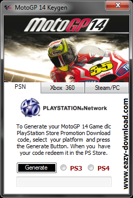 MotoGP 14 Keygen PS3